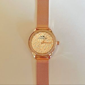 Coach Rose Gold watch stainless steel metal pink